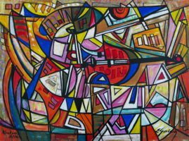 Meksykański skrzypek, 2016, akryl, olej, płótno,  70 x 93 cm