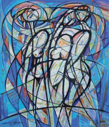 Trzy akty, 2012 olej, płótno, 116 x 100 cm
