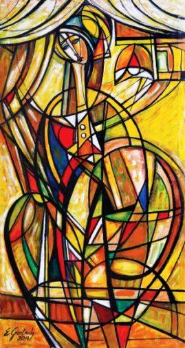 Infantka - 019, 2019 olej, płótno, 135 x 75 cm
