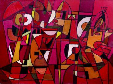 Kompozycja rycerska, 2009 olej, płótno, 120 x 160 cm