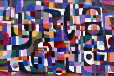 Kompozycja fioletowa, 2007 olej, płótno, 100 x 150 cm