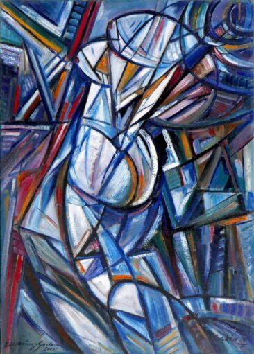 Przed lustrem - akt, 2007 olej,  płótno, 109 x 77 cm
