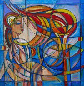 Grecka królowa, 2014 olej,  płótno, 102 x 99 cm